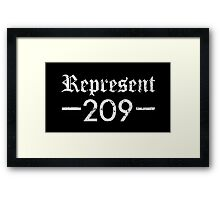 Represent 209 Framed Print