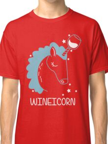 Wineicorn, funy, cool t-shirts Classic T-Shirt
