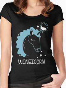 Wineicorn, funy, cool t-shirts Women's Fitted Scoop T-Shirt