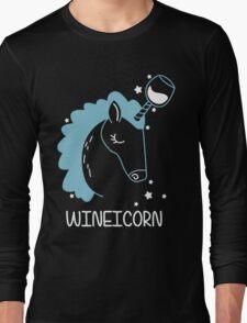 Wineicorn, funy, cool t-shirts Long Sleeve T-Shirt