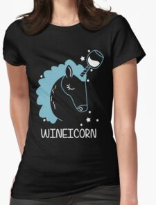 Wineicorn, funy, cool t-shirts Womens Fitted T-Shirt
