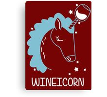 Wineicorn, funy, cool t-shirts Canvas Print