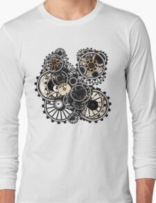 Steampunk Gears on your Gear No.2 Long Sleeve T-Shirt