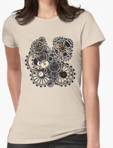 Steampunk Gears on your Gear No.2 Womens Fitted T-Shirt