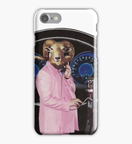 Pink Suited Ram iPhone Case/Skin