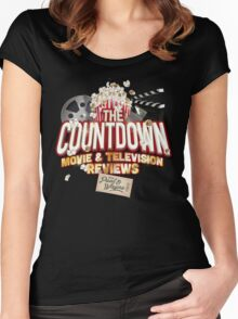 The Countdown Movie & TV Reviews Podcast Women's Fitted Scoop T-Shirt