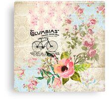 Columbias Bicycles Vintage Illustration Canvas Print