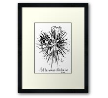... And the woman clothed in sun Framed Print