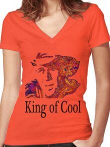 Steve McQueen  Women's Fitted V-Neck T-Shirt