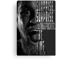 'SURPRISE, SURPRISE MOTHERFUCKER. THE KING IS BACK' Conor McGregor Metal Print