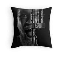 'SURPRISE, SURPRISE MOTHERFUCKER. THE KING IS BACK' Conor McGregor Throw Pillow