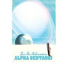 For an Adventure Retro Ski Sci-fi poster Photographic Print