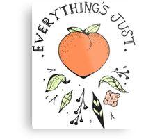 Just Peachy! Metal Print