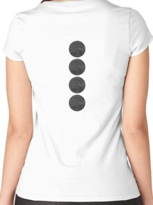 Black & White 13 Women's Fitted Scoop T-Shirt
