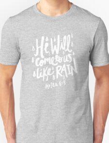 Hosea 6: 3 x Mustard Unisex T-Shirt
