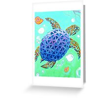 Flower of Life Sea Turtle Greeting Card