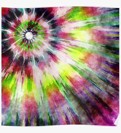 Kiwi Tie Dye Watercolor Poster