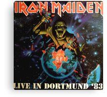 IRON MAIDEN - LIVE IN DORTMUND 1983 Canvas Print
