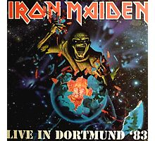 IRON MAIDEN - LIVE IN DORTMUND 1983 Photographic Print