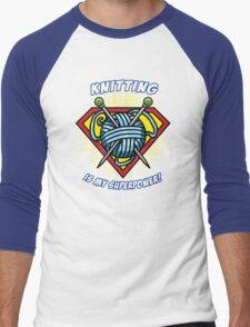 KNITTING IS MY SUPERPOWER! Men's Baseball ¾ T-Shirt