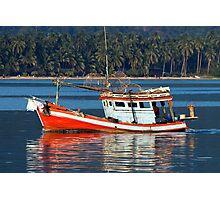 Fishing Boat at Bang Bao Bay Photographic Print