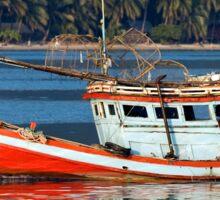 Fishing Boat at Bang Bao Bay Sticker