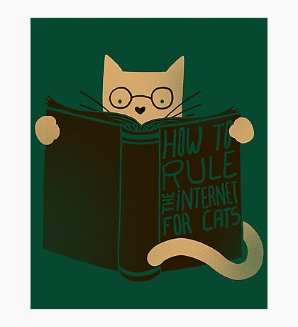 How To Rule The Internet For Cats - Green Photographic Print