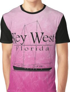 Pink Key West Sailing Graphic T-Shirt