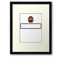 Pokemon Master Red Framed Print