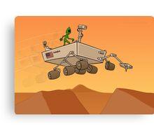 Alien Life on Mars Canvas Print