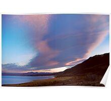 The Sky above Mono Lake, California Poster