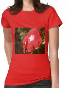 Close Up Of A Red Busy Lizzie Flower Womens Fitted T-Shirt
