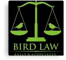 Bird Law Canvas Print