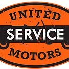 United Service vintage sign distressed version by htrdesigns