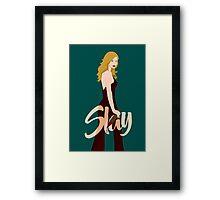 Slay Buffy Framed Print