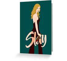 Slay Buffy Greeting Card