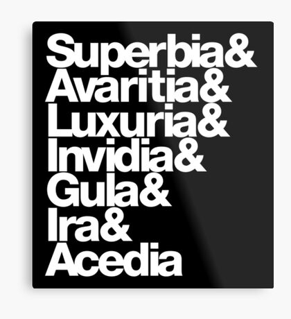 saligia (latin) Metal Print