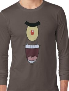 Plankton evil and funny laugh Long Sleeve T-Shirt