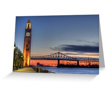 Montreal Clock Tower 3 Greeting Card