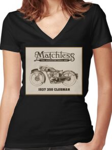 Matchless British classic motorcycle Women's Fitted V-Neck T-Shirt
