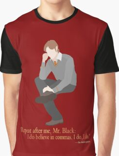 Remus Believes in Commas Graphic T-Shirt