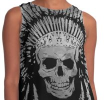 Chief Skull Grayscale Contrast Tank