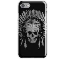 Chief Skull Grayscale iPhone Case/Skin
