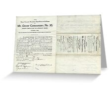 1912 Petition of Companion George Hall Bostick , Mt. Olivet Commandery No.30 Knights Templar Greeting Card