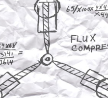 The Flux Capacitor Sticker