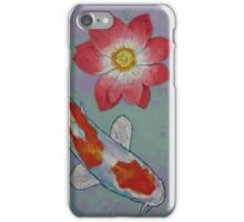 Koi and Lotus iPhone Case/Skin