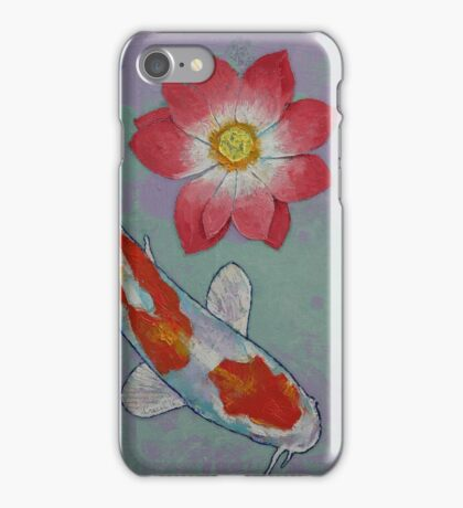 Koi and Lotus iPhone Case/Skin