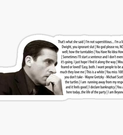 The office - Michael Scott quotes Sticker