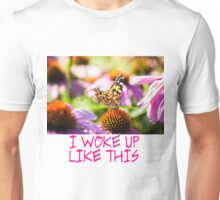 Painted Lady On A Flowerbed Unisex T-Shirt