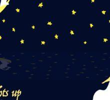 Romantic Stars Quote  Sticker
